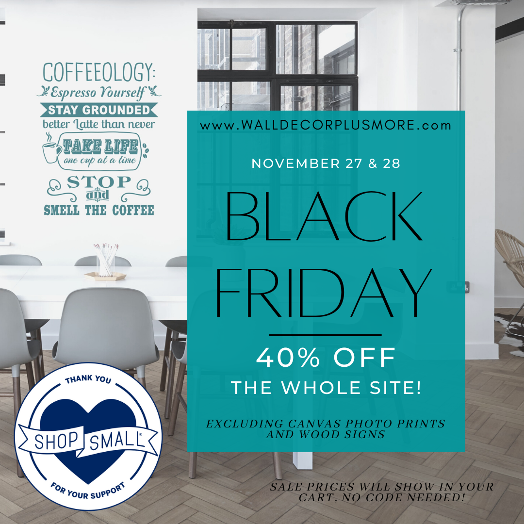 40% off Sitewide on Black Friday and Small Business Saturday! Shop the sale NOW!