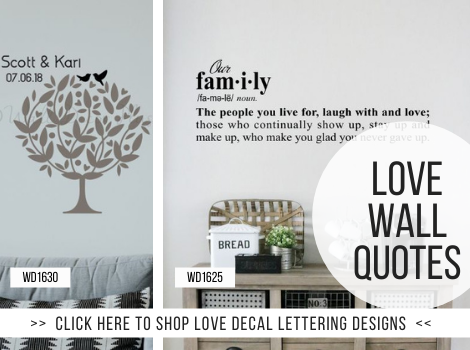 Bedroom Love Vinyl Lettering for Walls Wall Decor Stickers