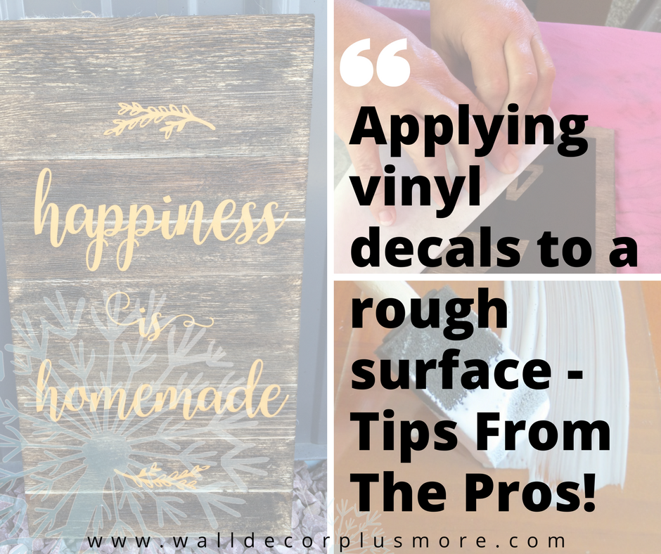 amazing trick! vinyl decal stickers and rustic wood surfaces - wall