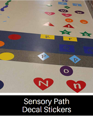 Click here to see our Sensory Path Decal Sticker Collection!
