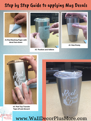 Guide to Applying your Tumbler Mug Cup Decal Stickers