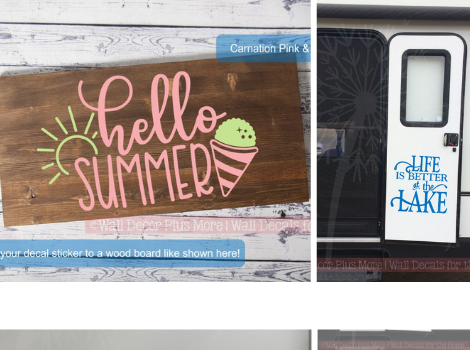 Summer is here! Update your decor or new projects with our perfect Summer Quotes decal stickers!