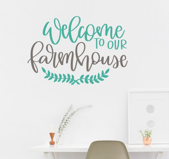 WD1175 Welcome to our farmhouse Wall Decal Sticker Vinyl Letters