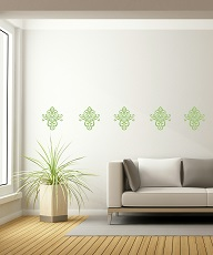 WD370 Floral Pattern Medallion for Home Decor Celadon Floral Wall Sticker Decal