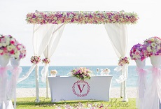 WD940 Laurel Wreath Monogram Alphabet75 Wedding Beach Vinyl decor