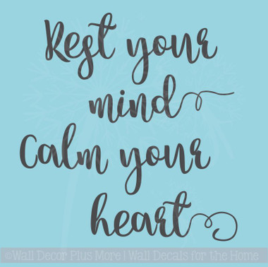 Rest Quotes Rest Your Mind Vinyl Wall Decals Encouraging Affirmation Health Quotes Rest Quotes