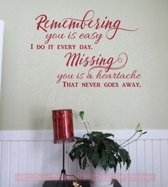 Missing You Is A Heartache Vinyl Lettering Quote Wall