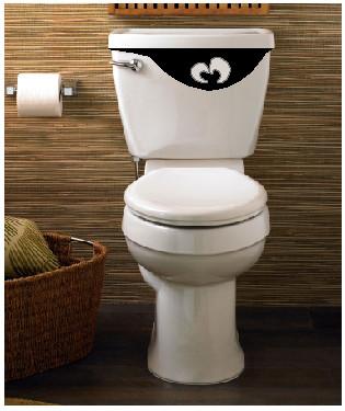 Toilet Tank Eyes Funny Vinyl Sticker For The Toilet