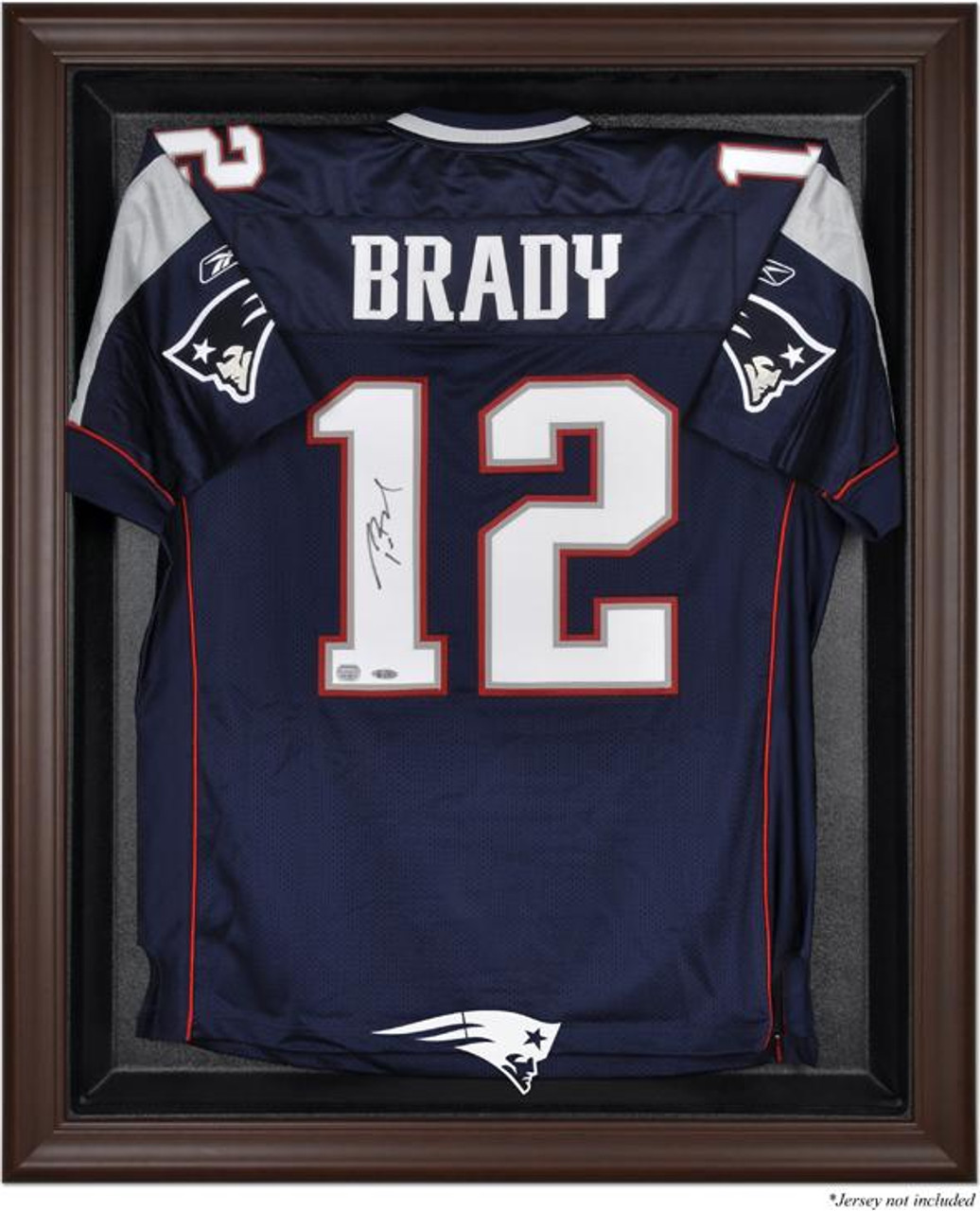 cheap for discount 04725 3a5a1 Brown Framed Patriots Jersey Display Case
