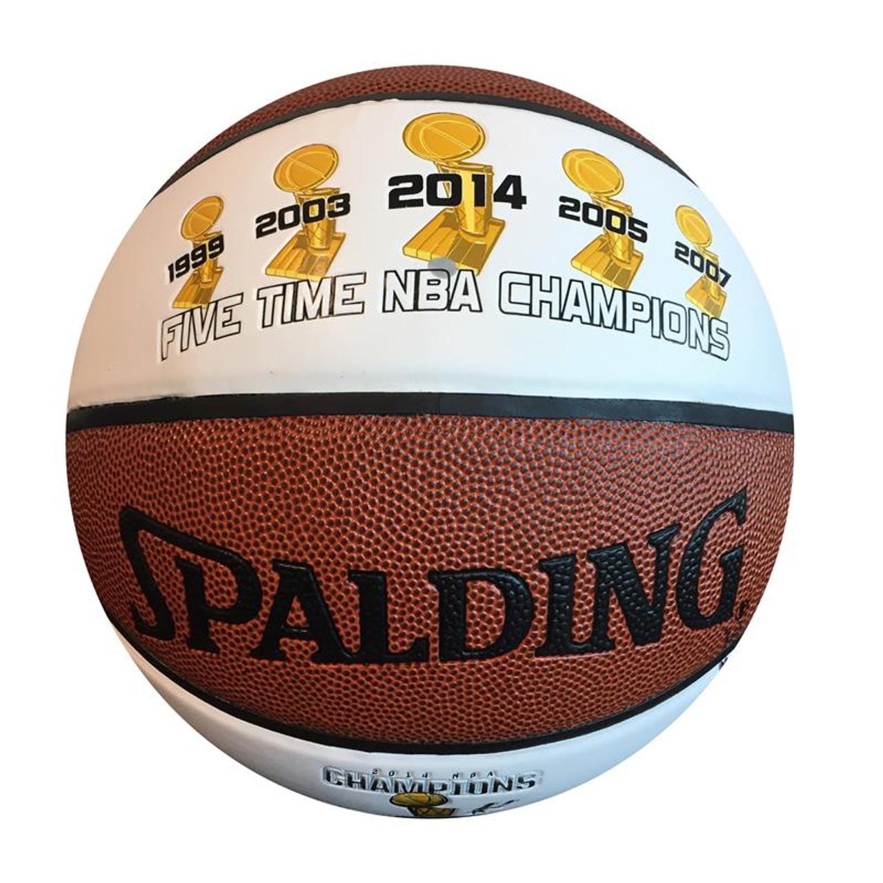 Tony Parker Autographed San Antonio Spurs 2014 NBA Championship Basketball c26f6efde