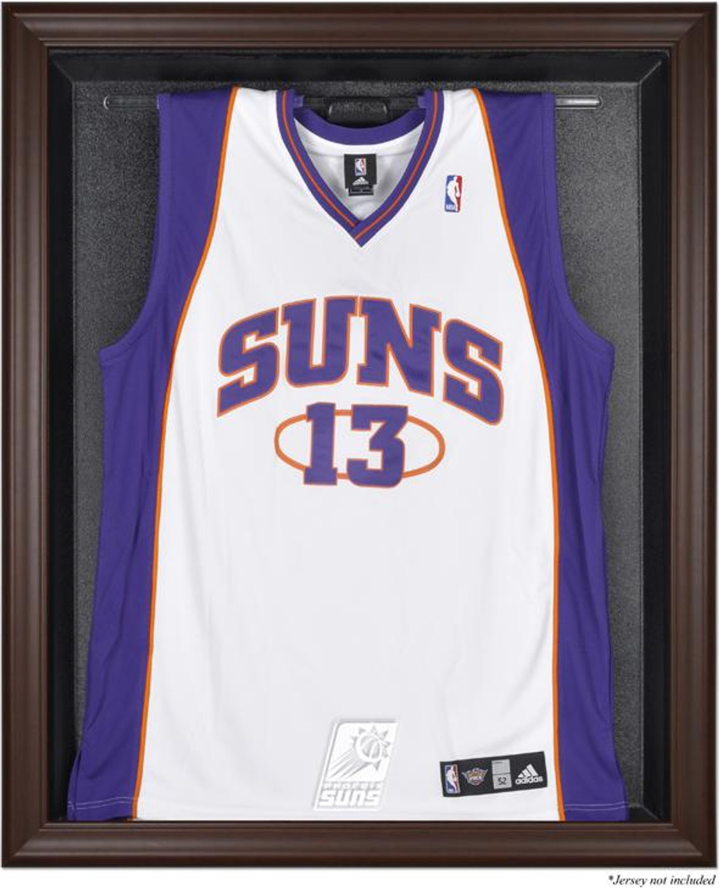 01757108b Phoenix Suns Brown Framed Jersey Display Case