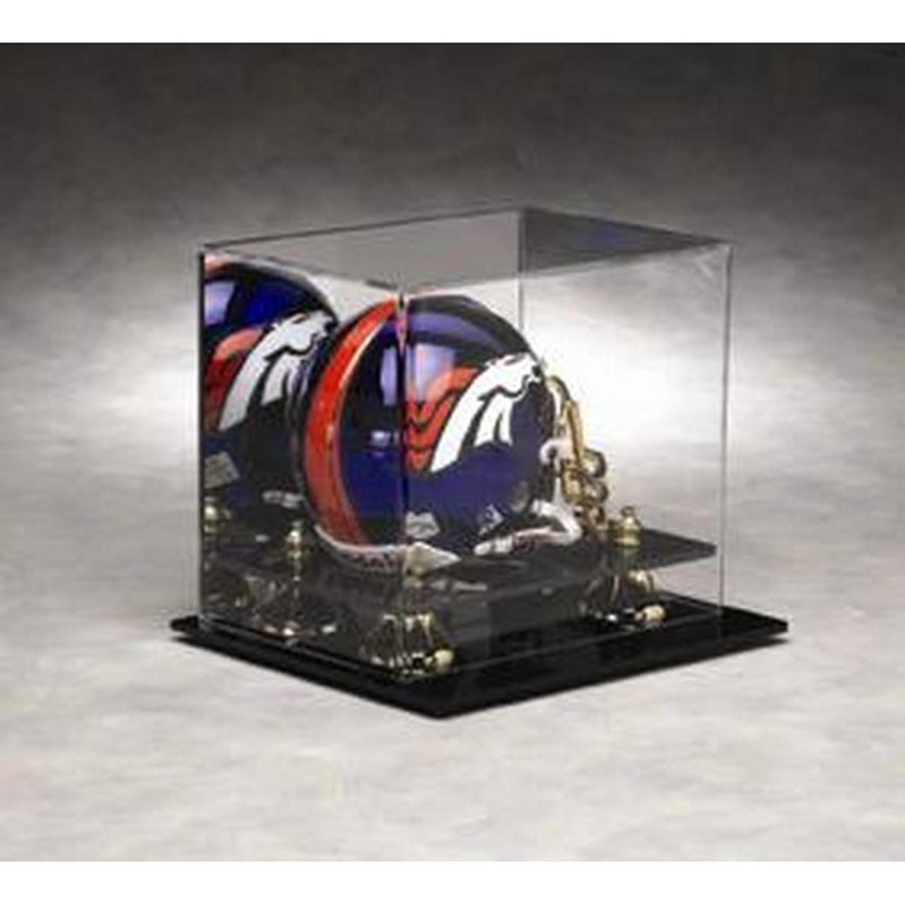 65c52fc55f8 Football Mini Helmet Display Case with Gold Risers