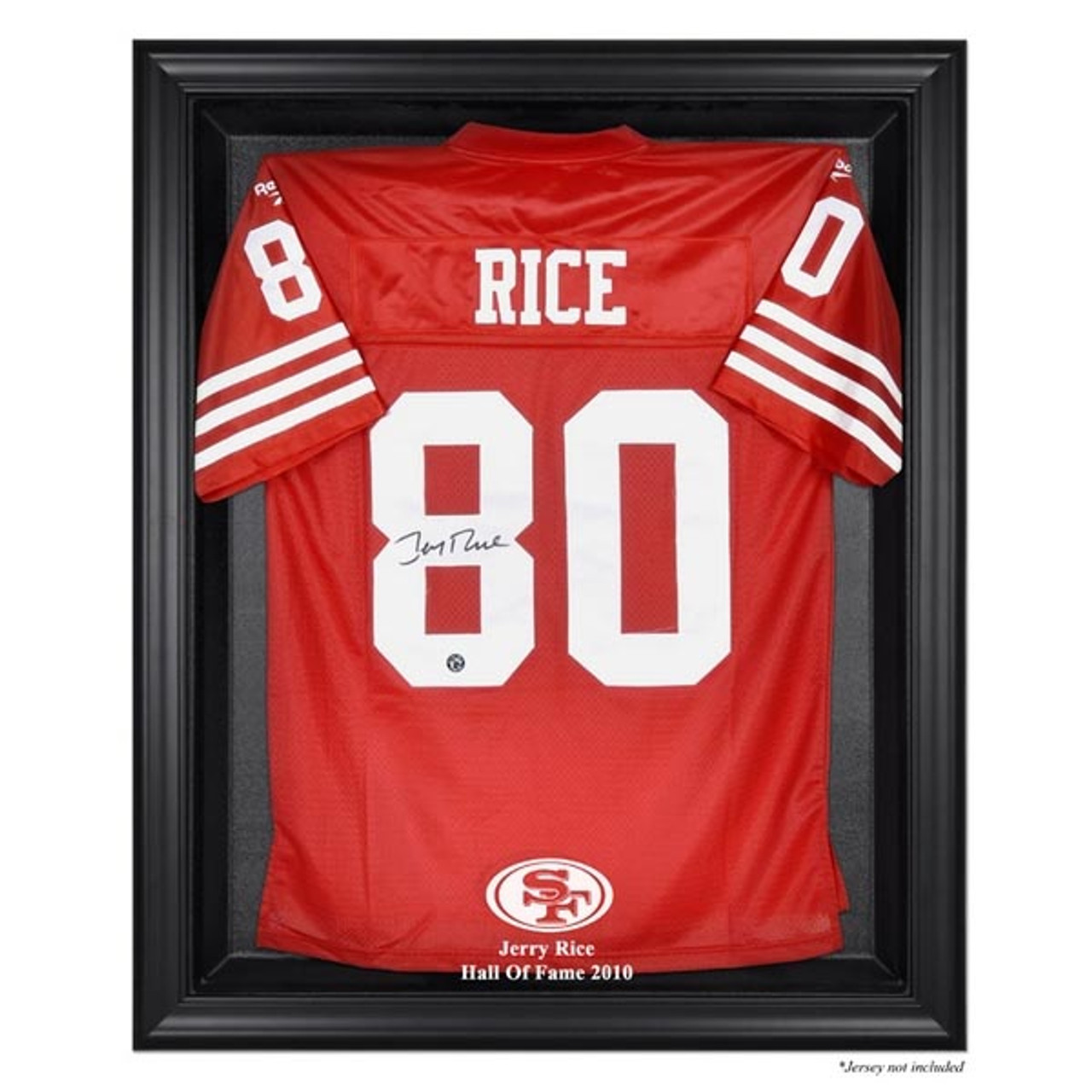 wholesale dealer e33e6 5e46e Black Framed Jerry Rice Hall of Fame 2010 Jersey Display Case