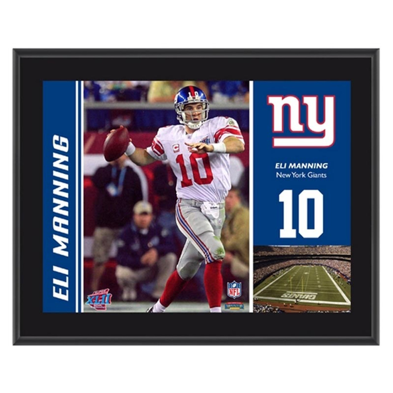 15ba4e5e New York Giants Eli Manning 10x13 Sublimated Plaque