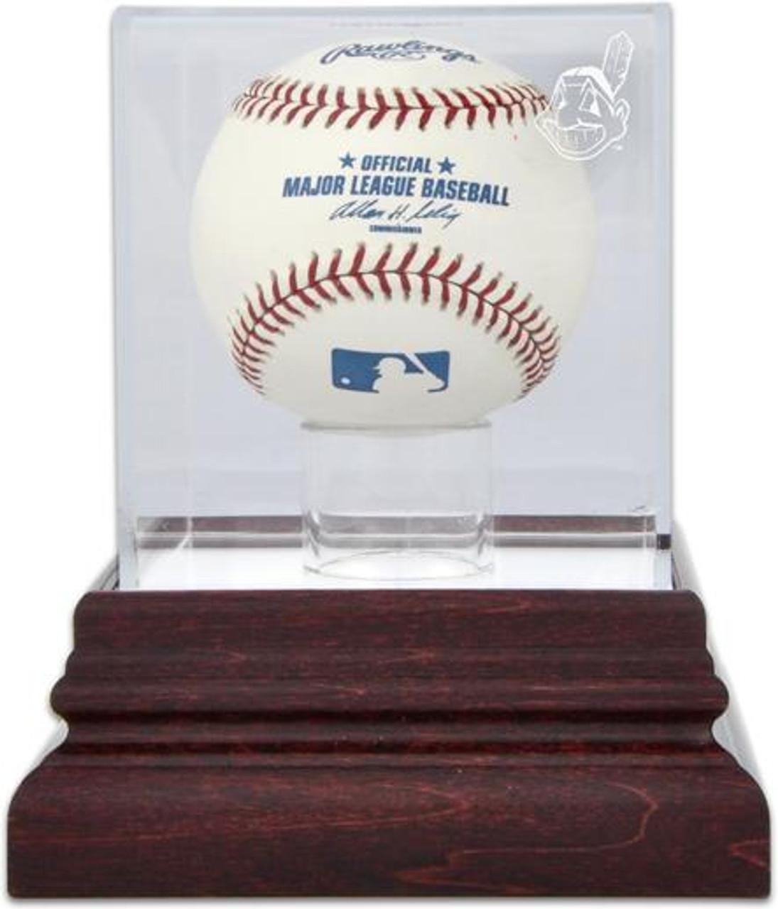 45074621e9f Antique Mahogany MLB Baseball Indians Display Case