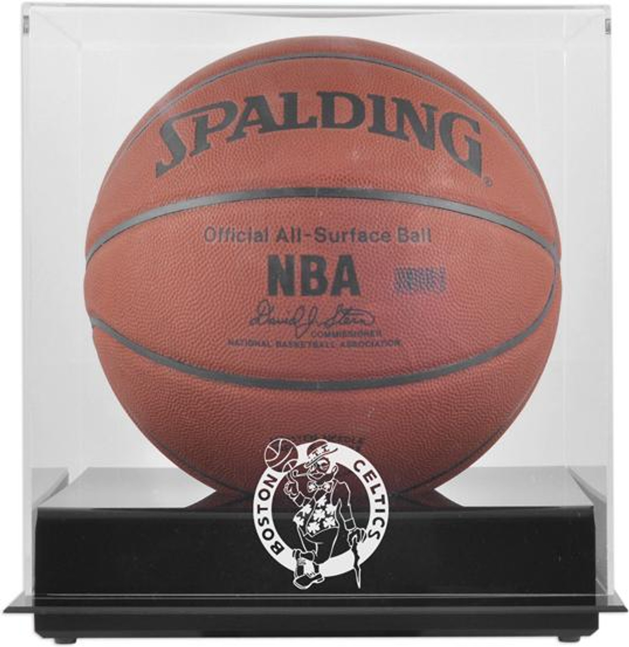 Boston Celtics Blackbase Basketball Display Case
