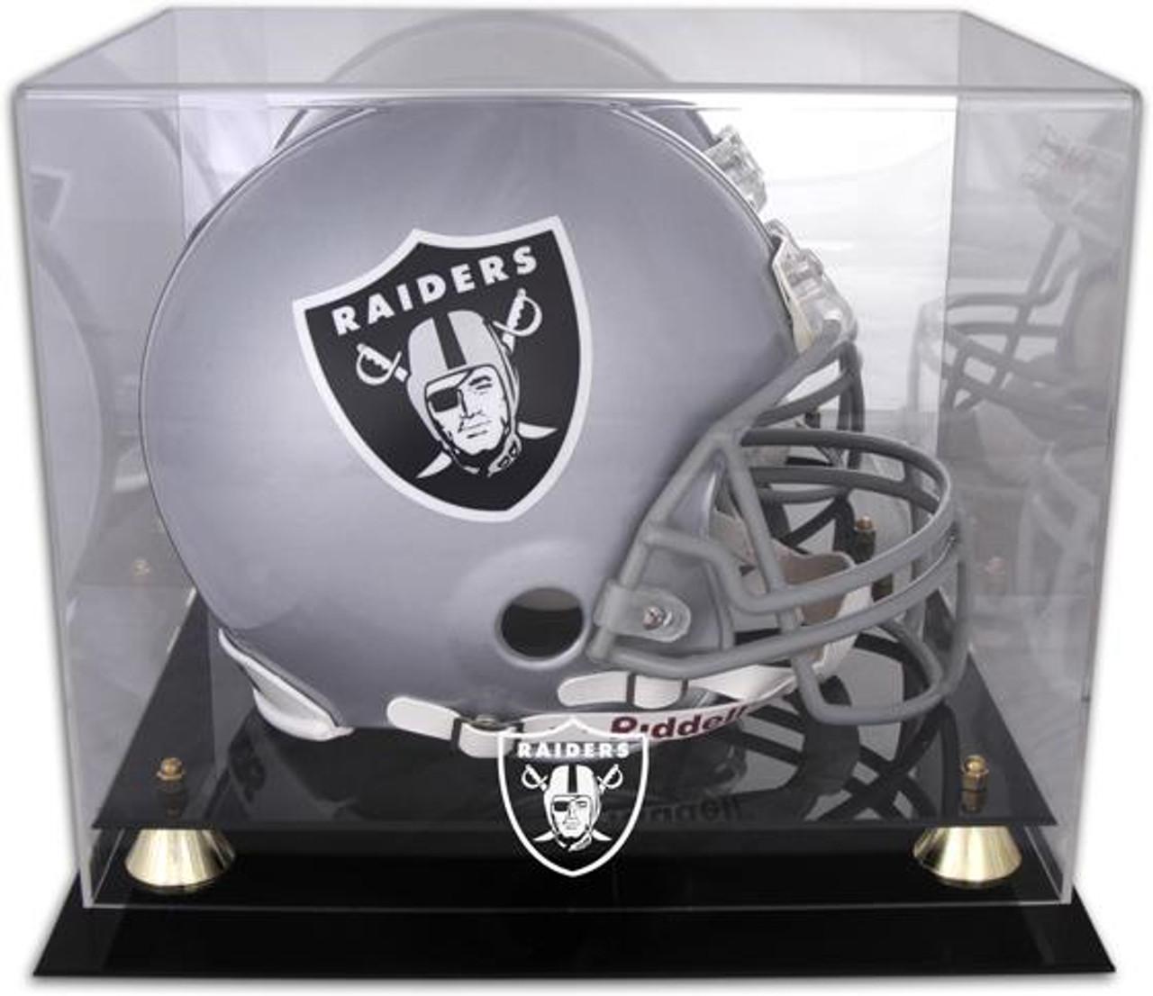 Sports Mem, Cards & Fan Shop Display Cases New Denver Broncos Football Helmet Display Case Black Sport Molding Uv Nfl