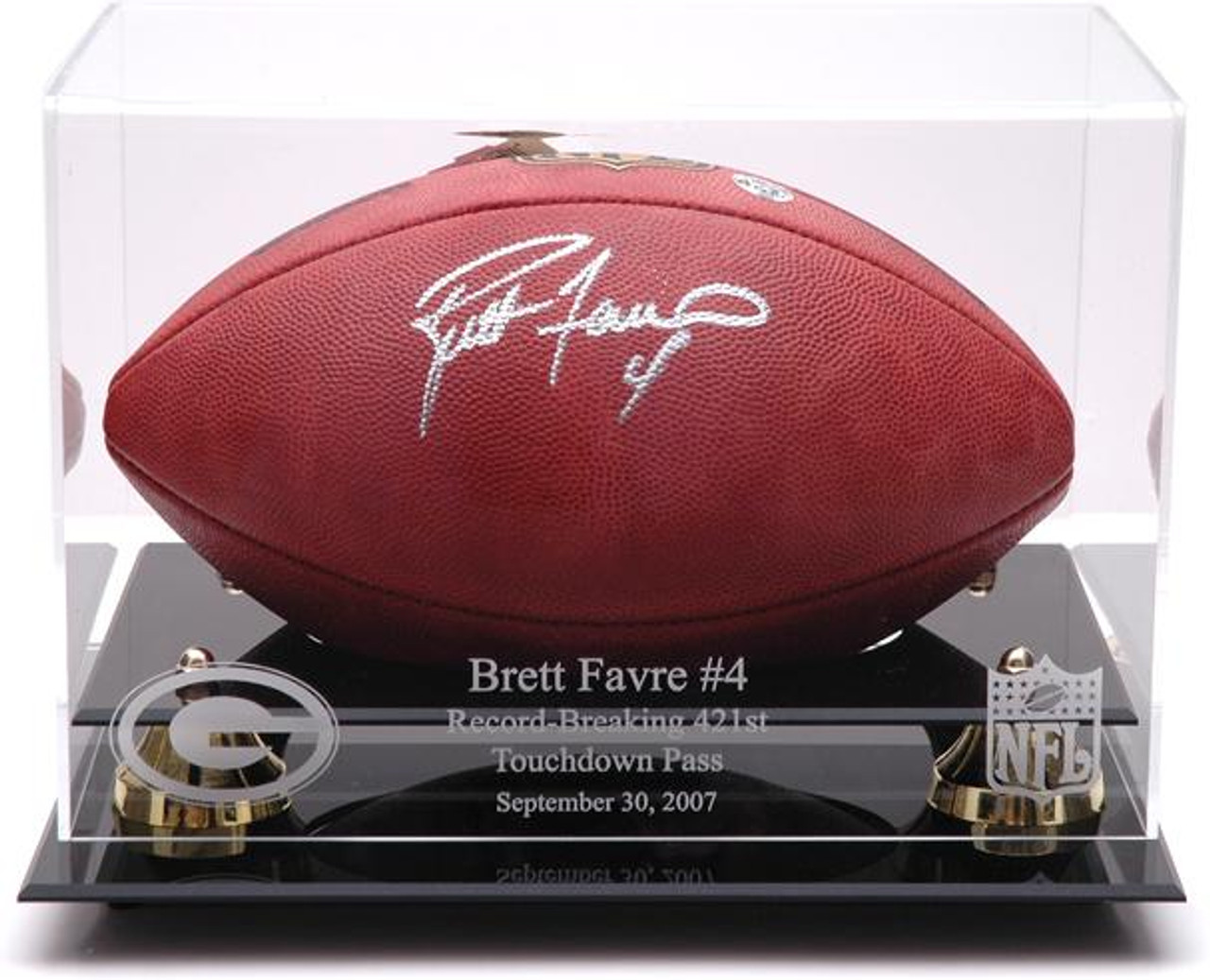 brand new 92be1 f5033 Goldne Classic Brett Favre Record Breaker Football Display Case
