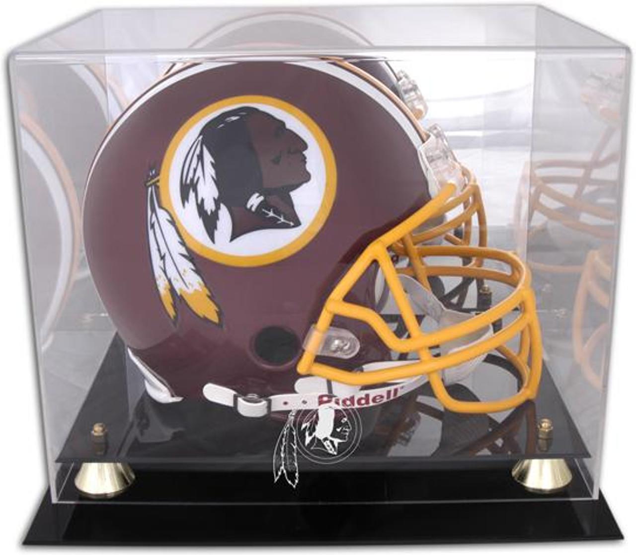 Display Cases Sports Mem, Cards & Fan Shop New Denver Broncos Football Helmet Display Case Black Sport Molding Uv Nfl