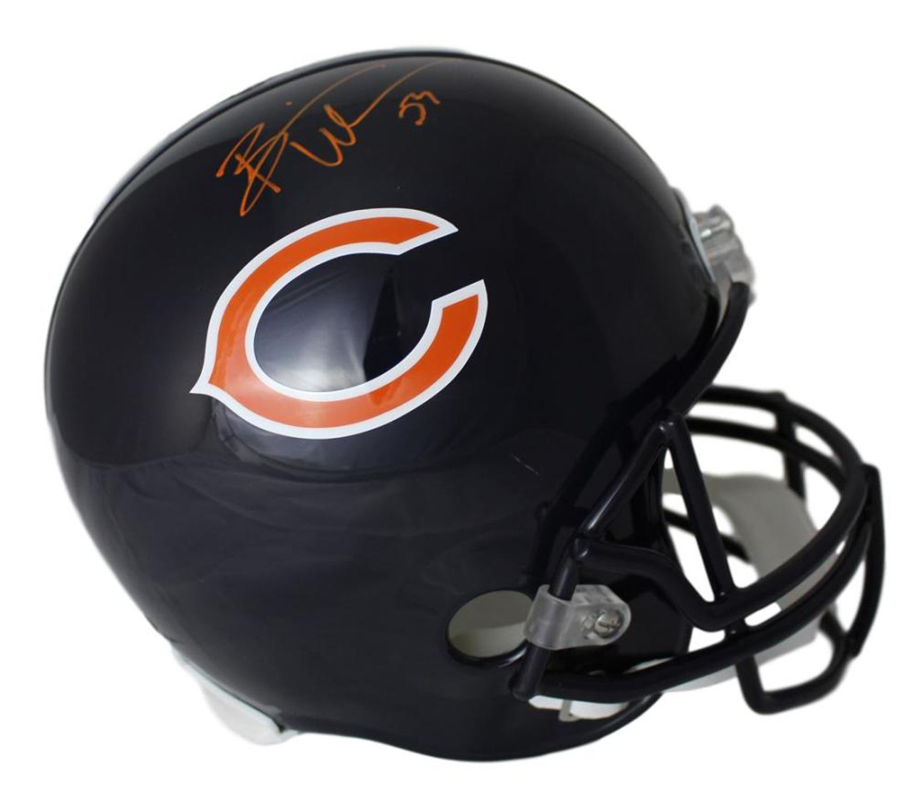 new concept fa53e 98309 Brian Urlacher Autographed Chicago Bears Replica Helmet JSA Certificate of  Authenticity