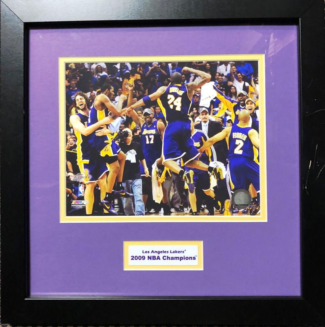 9ca5f0f3a5a LA Lakers 2009 NBA Championship Photo Plaque - Nikco Sports