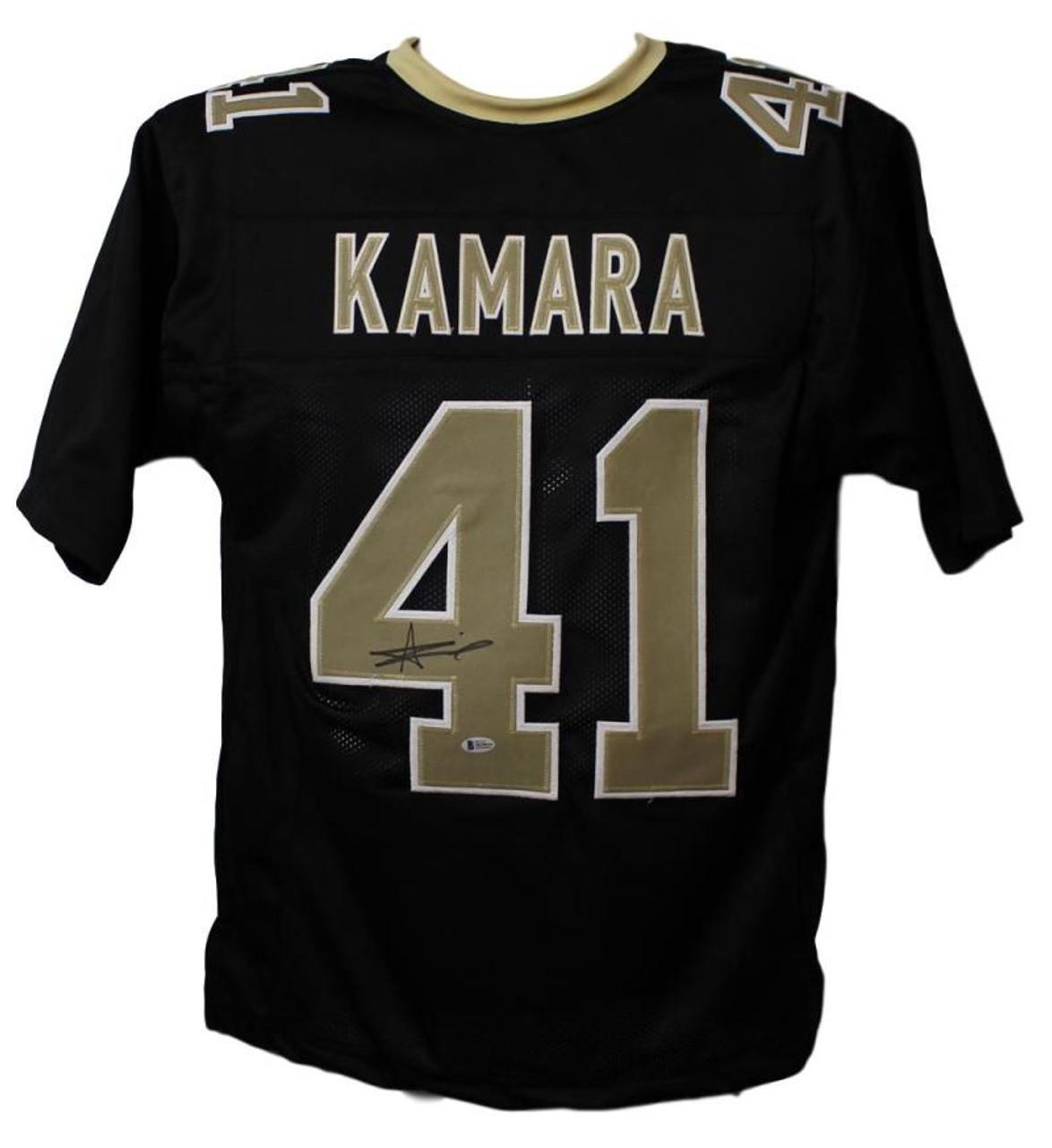 8f63d5ef Alvin Kamara Autographed New Orleans Saints XL Black Jersey BAS Certified