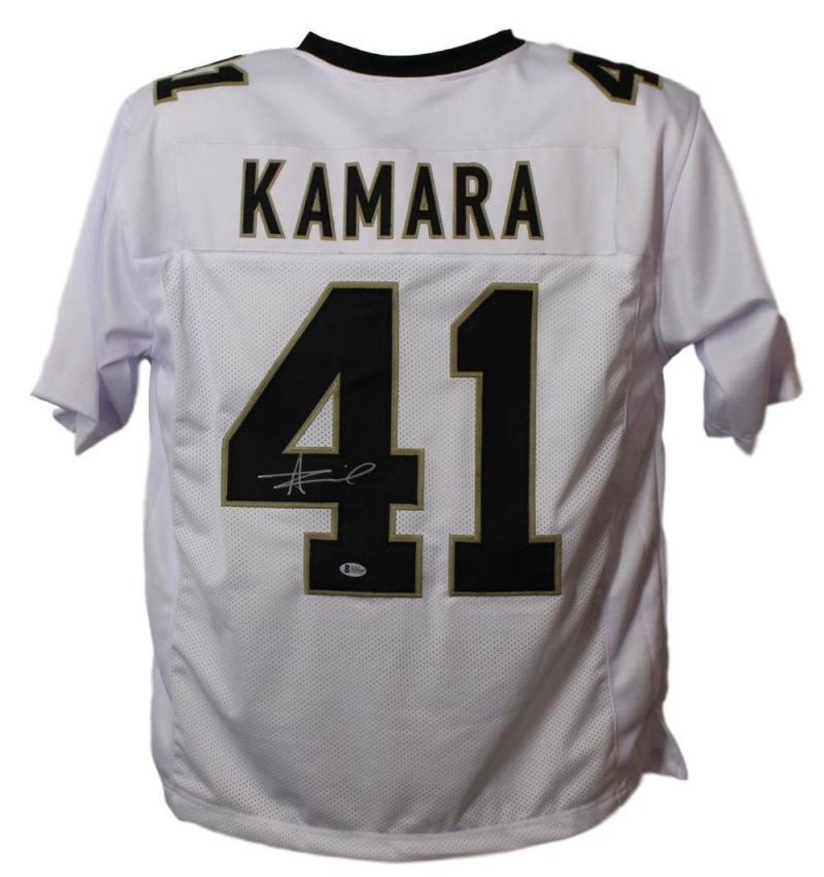 buy popular 717c6 a2955 Alvin Kamara Autographed New Orleans Saints XL White Jersey BAS Certified