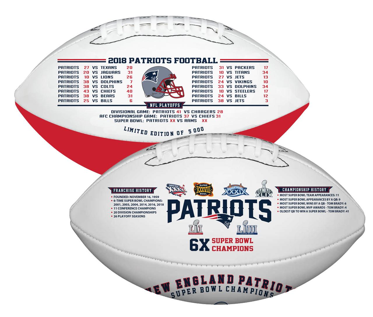 4474fade50f New England Patriots Super Bowl LIII Championship Commemorative Football