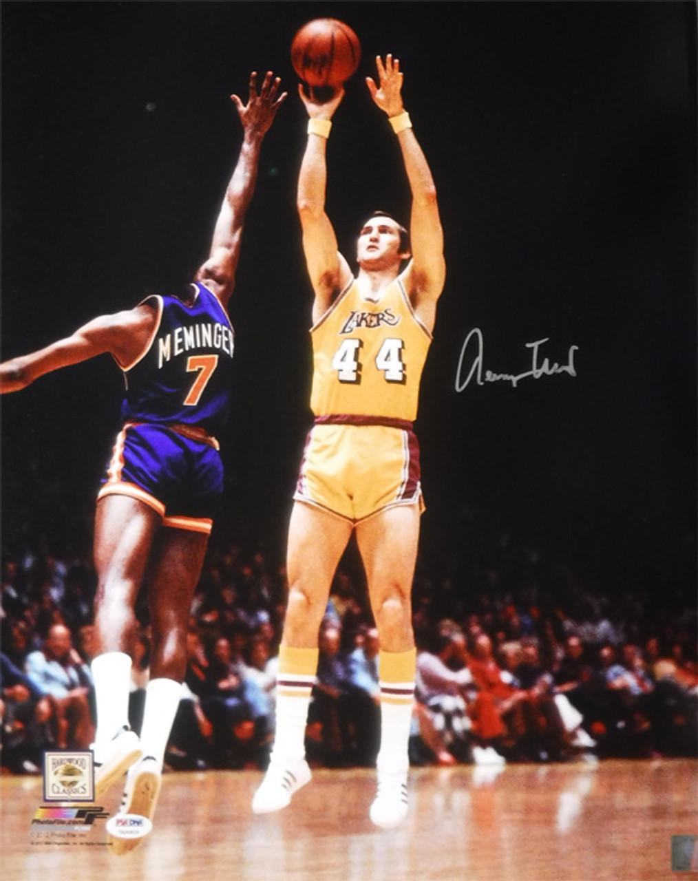 8066ddf5b114 Jerry West Autographed Los Angeles Lakers 16x20 Photo (Shooting) JSA