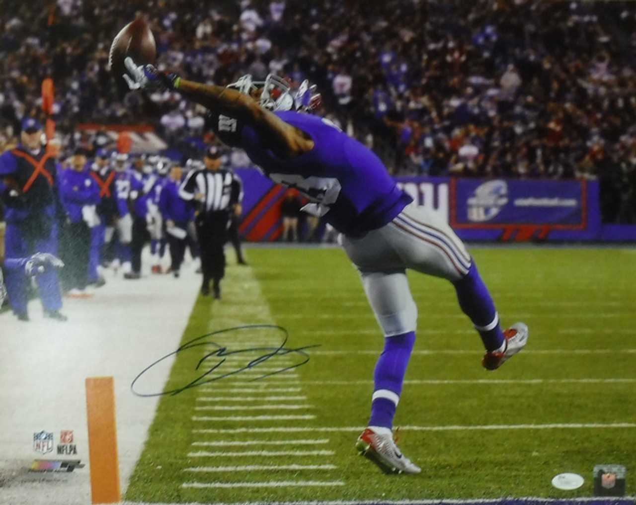 Odell Beckham Autographed New York Giants 16x20 Photo Catch Horz Solo JSA 7b598bd9a