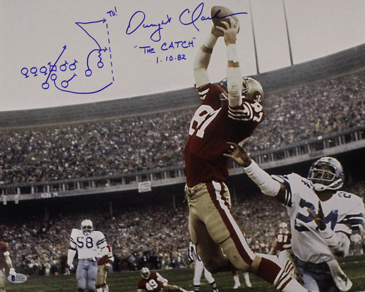 c98f8e474b1 Dwight Clark Autographed San Francisco 49ers 16x20 Photo Horizontal Play BAS