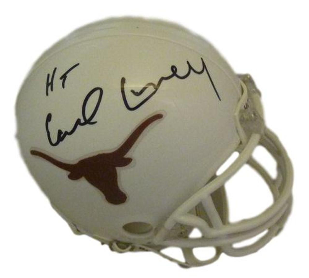 new product fa4d5 09667 Earl Campbell Autographed Texas Longhorns mini helmet w/HT 77 & JSA