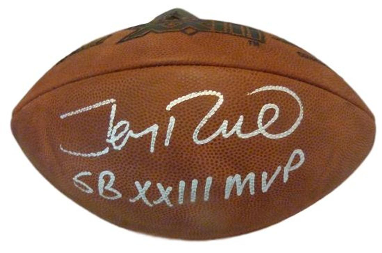 e279712b4 Jerry Rice Autographed Super Bowl XXIII Football w inscription San  Francisco 49ers