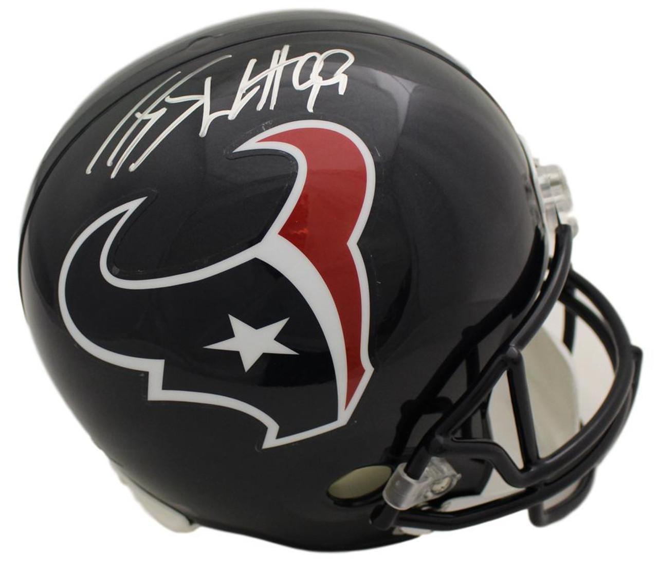 69fdcfaf JJ Watt Autographed Houston Texans Full Size Deluxe Replica Helmet JSA
