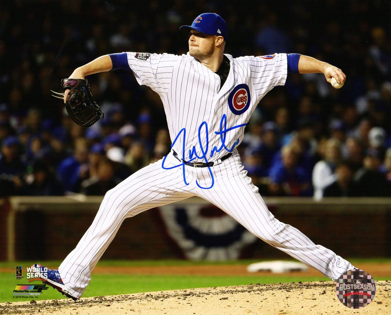 063de1f7a Jon Lester Signed Cubs 2016 World Series 8x10 Photo - Nikco Sports