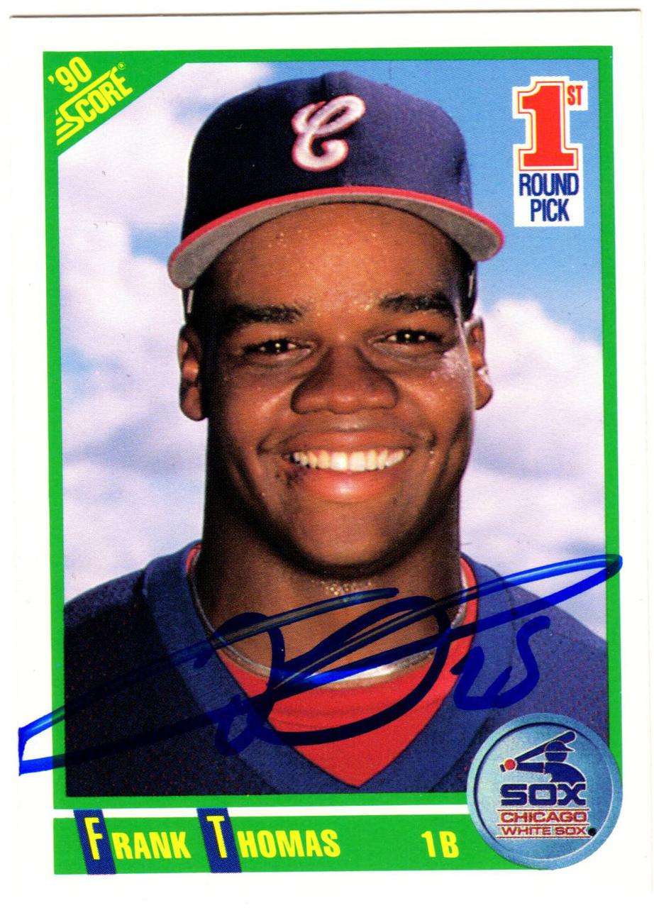 Frank Thomas Signed White Sox 1990 Score Rookie Card 663