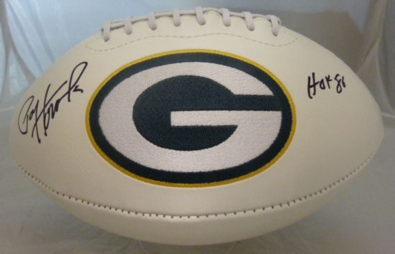 size 40 420ff f1069 Paul Hornung Autographed Green Bay Packers white logo football w HOF 86  Inscription