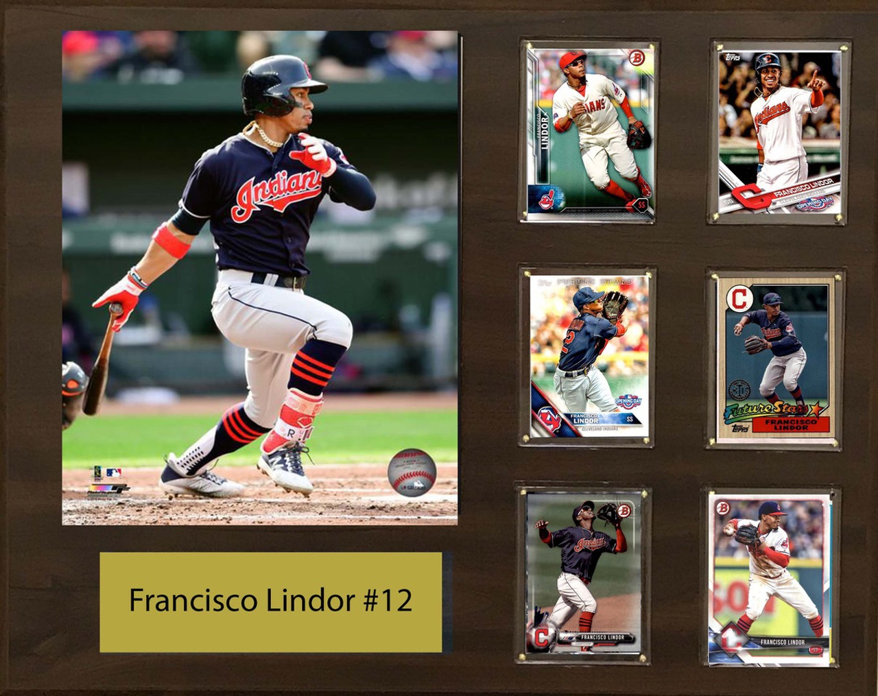 Francisco Lindor Cleveland Indians 16x20 Photo Plaque