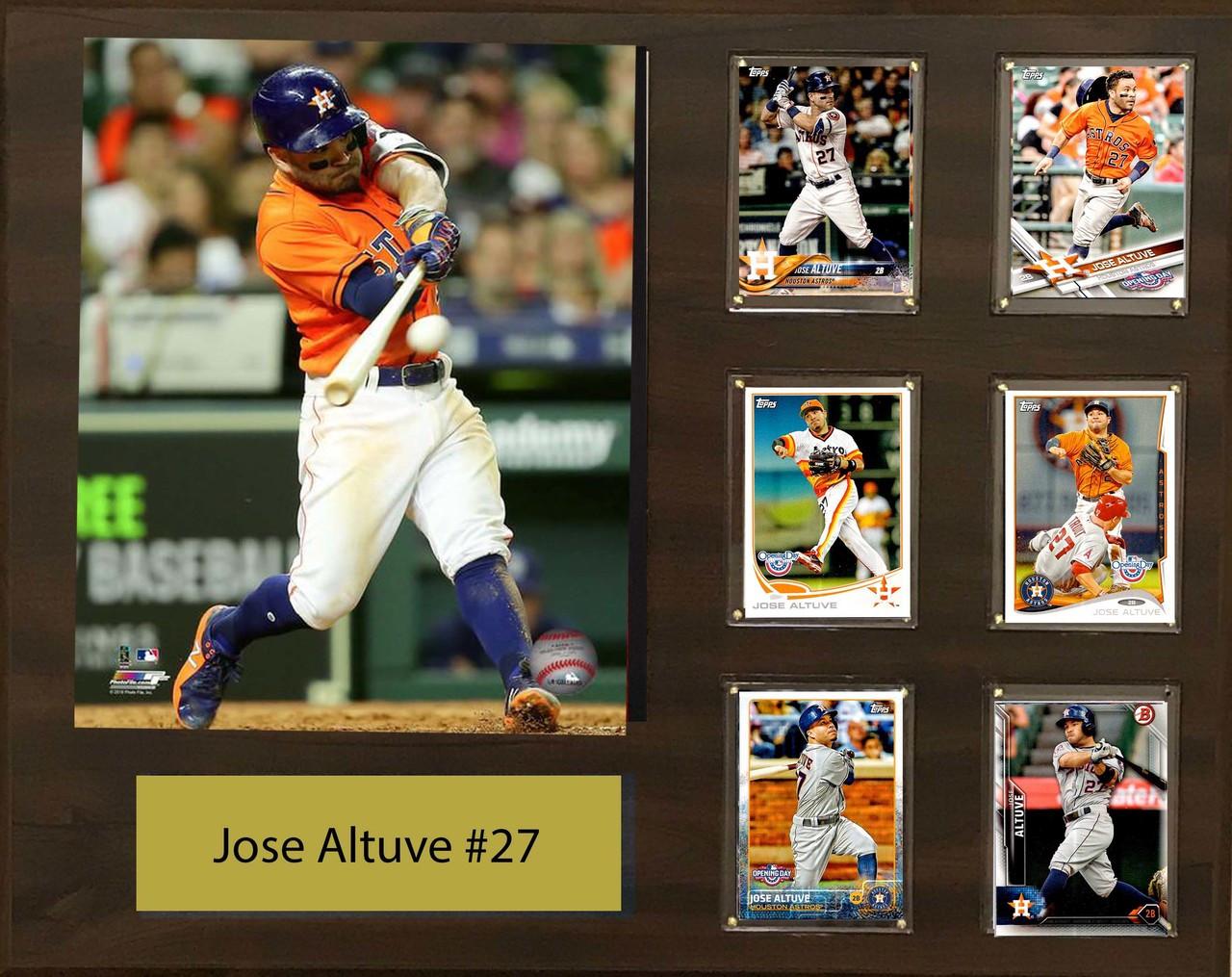 best website ffff5 f01e1 Jose Altuve, Houston Astros, 16x20 Plaque - 8x10 Action photo and 6  baseball cards