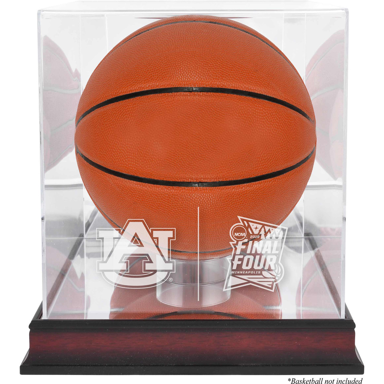 d7d4322d9 Auburn Tigers Logo Final Four Mahogany Basketball Display Case
