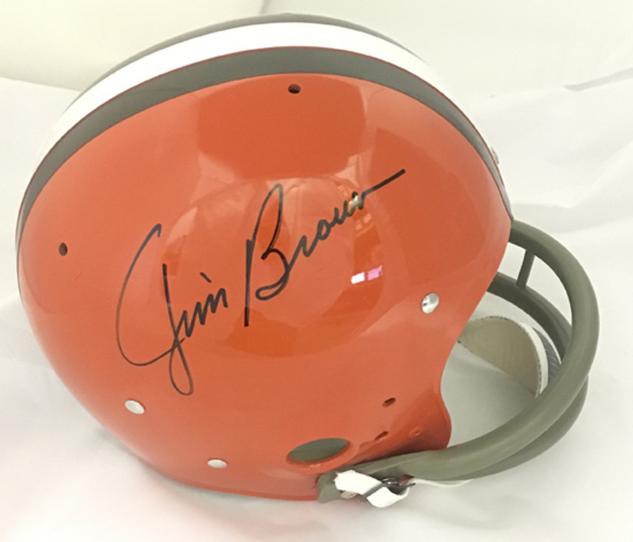 6cdb5b30 Jim Brown Autographed full-size Cleveland Browns TK Helmet - COA included
