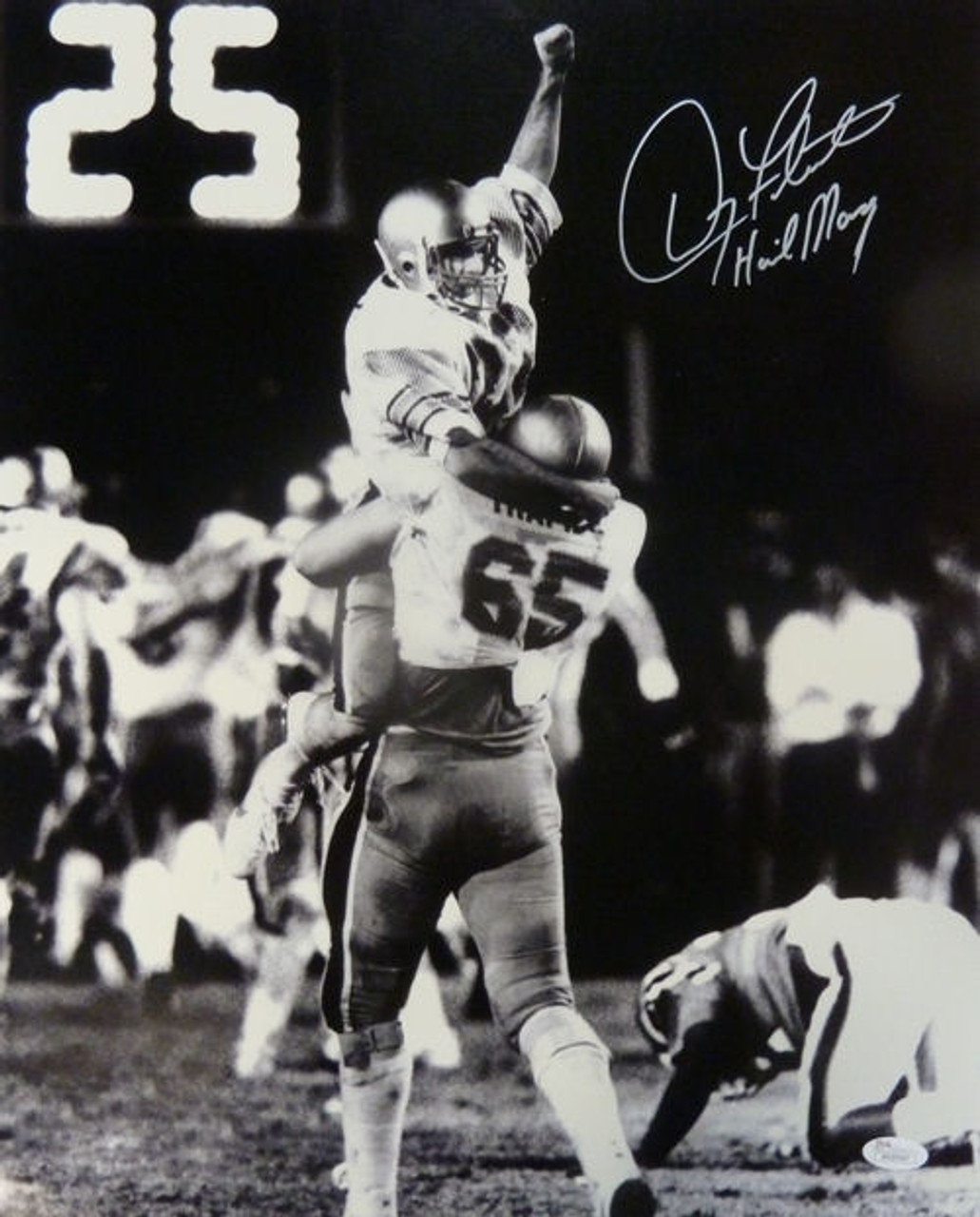 premium selection f525c 3f4f8 Doug Flutie Autographed Boston College Eagles Hail Mary 16x20