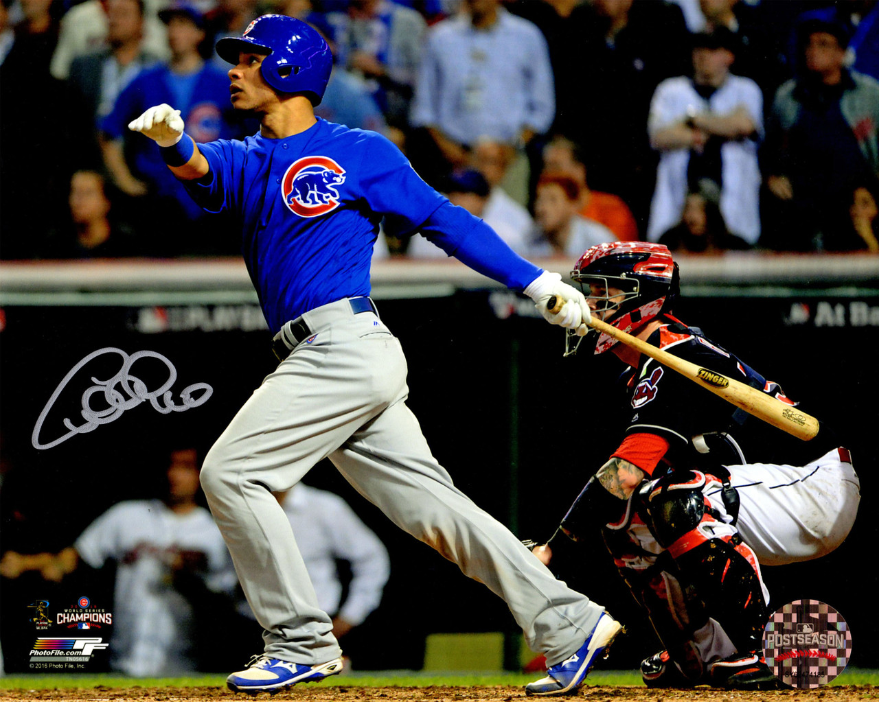Size: 8 x 10 Kyle Schwarber Chicago Cubs 2016 World Series Action Photo