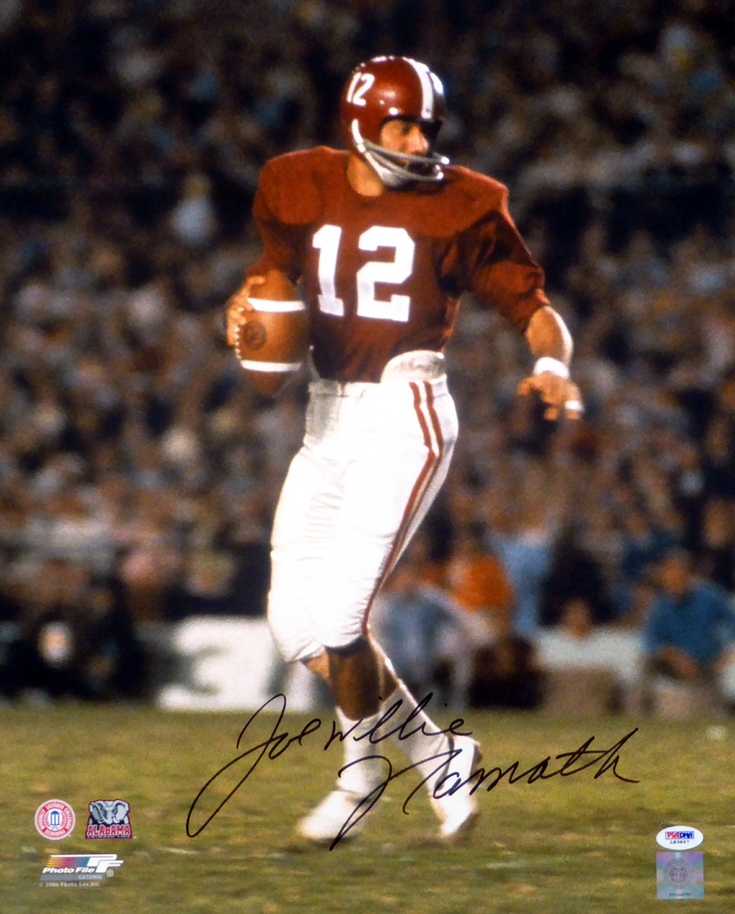 best service 7e3cd 9192c Joe Namath Alabama Crimson Tide Autographed 16x20 Unframed Photo PSA/DNA