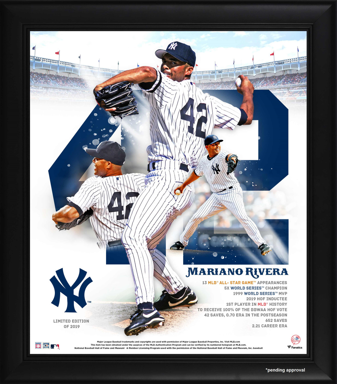 info for bbbd3 21aa0 Mariano Rivera Hall of Fame Induction 15x17 Framed Photo Collage