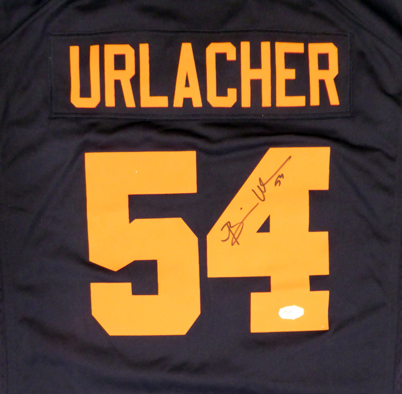 size 40 830ff c0e85 Brian Urlacher HOF Chicago Bears Autographed Blue & Orange NIKE Jersey Size  XL PSA/DNA ITP
