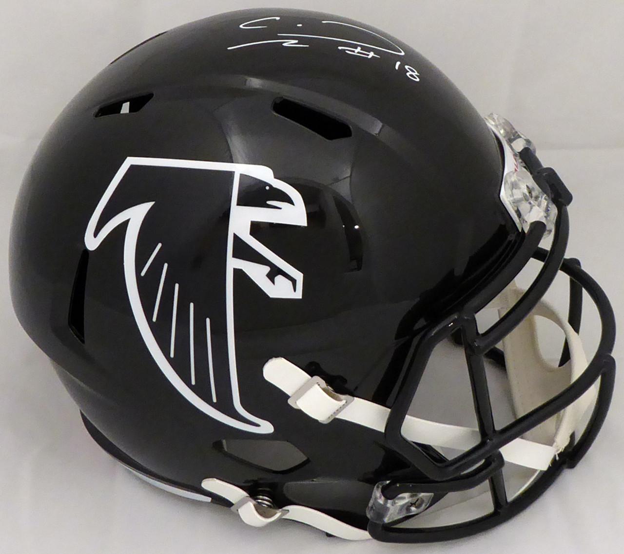 super cute 844e4 8fbea Calvin Ridley Autograped Atlanta Falcons Full Size Replica Speed Throwback  Helmet Beckett BAS
