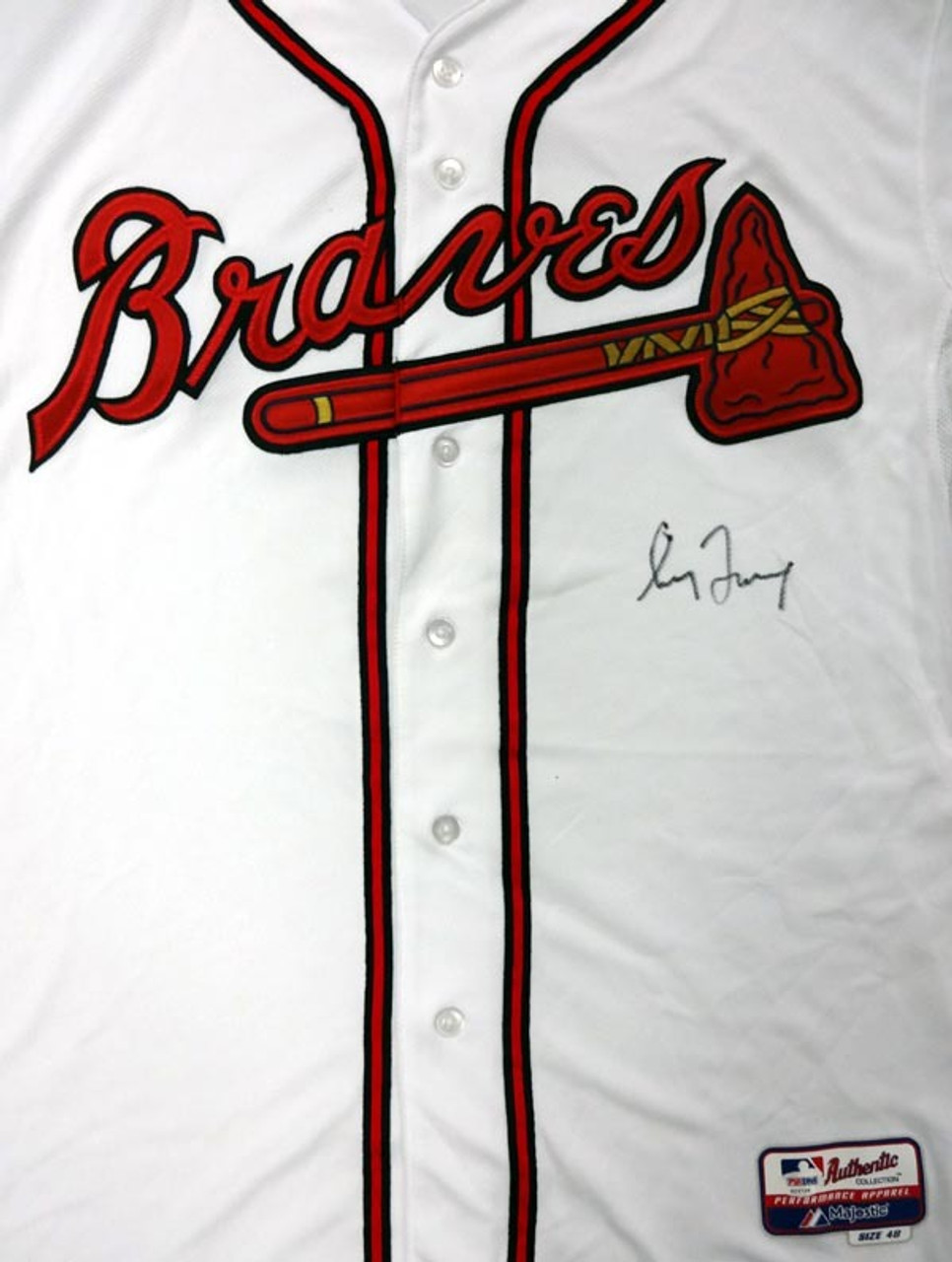 low priced 4c2aa cf1bf Greg Maddux Autographed Atlanta Braves White Authentic Majestic Cool Base  Jersey Size 48 PSA/DNA