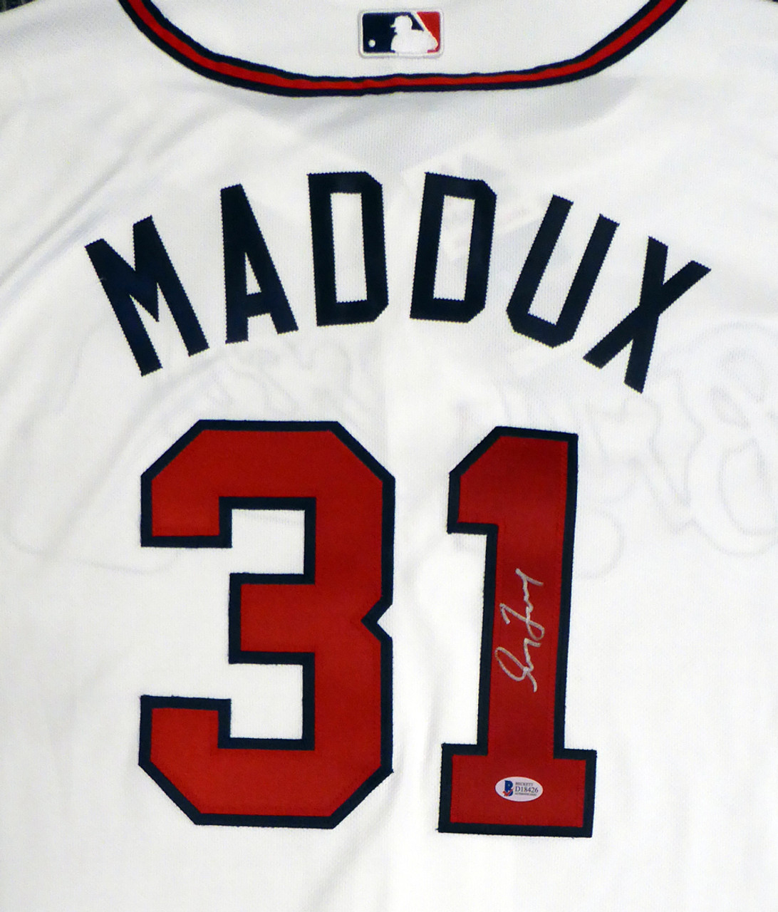 brand new deb95 85da2 Greg Maddux Autographed Atlanta Braves White Authentic Majestic Cool Base  Jersey Size 52 (Signed on the