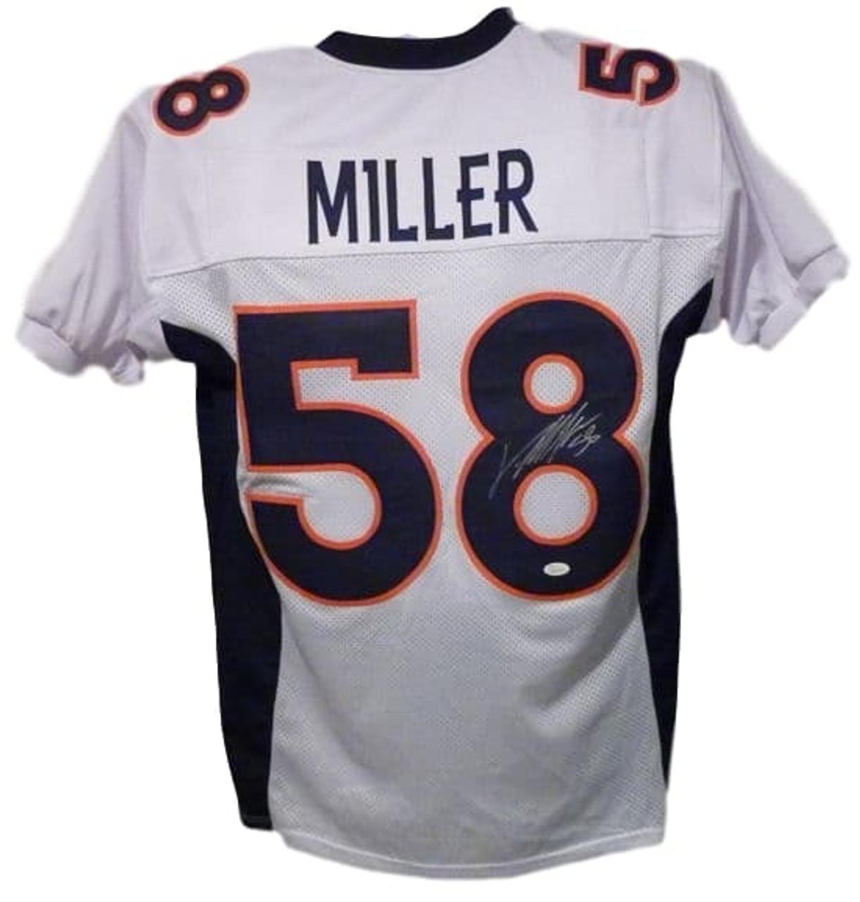 sports shoes 8e006 cd4bb Von Miller Denver Broncos Autographed White Custom Broncos Jersey